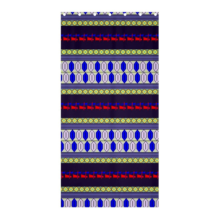 Colorful Retro Geometric Pattern Shower Curtain 36  x 72  (Stall)