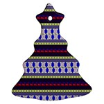 Colorful Retro Geometric Pattern Ornament (Christmas Tree) Front
