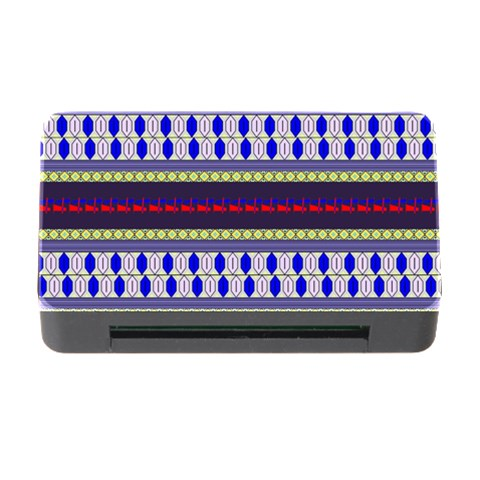 Colorful Retro Geometric Pattern Memory Card Reader with CF