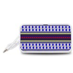 Colorful Retro Geometric Pattern Portable Speaker (White)  Front