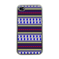 Colorful Retro Geometric Pattern Apple iPhone 4 Case (Clear)