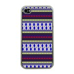 Colorful Retro Geometric Pattern Apple iPhone 4 Case (Clear) Front