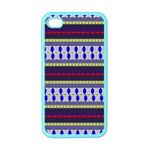 Colorful Retro Geometric Pattern Apple iPhone 4 Case (Color)