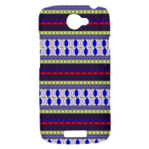 Colorful Retro Geometric Pattern HTC One S Hardshell Case