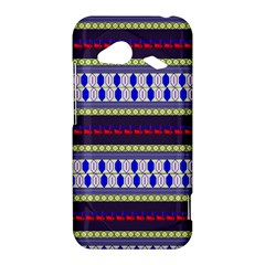 Colorful Retro Geometric Pattern HTC Droid Incredible 4G LTE Hardshell Case