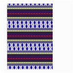 Colorful Retro Geometric Pattern Small Garden Flag (Two Sides) Front