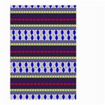 Colorful Retro Geometric Pattern Large Garden Flag (Two Sides) Front