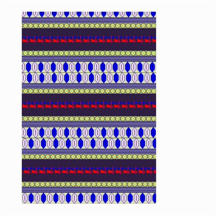 Colorful Retro Geometric Pattern Large Garden Flag (Two Sides)