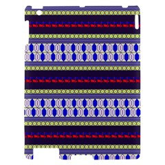 Colorful Retro Geometric Pattern Apple iPad 2 Hardshell Case