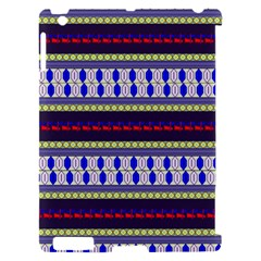 Colorful Retro Geometric Pattern Apple iPad 2 Hardshell Case (Compatible with Smart Cover)