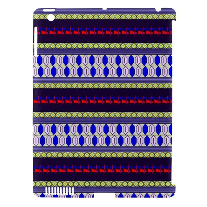 Colorful Retro Geometric Pattern Apple iPad 3/4 Hardshell Case (Compatible with Smart Cover)