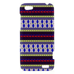 Colorful Retro Geometric Pattern HTC One V Hardshell Case
