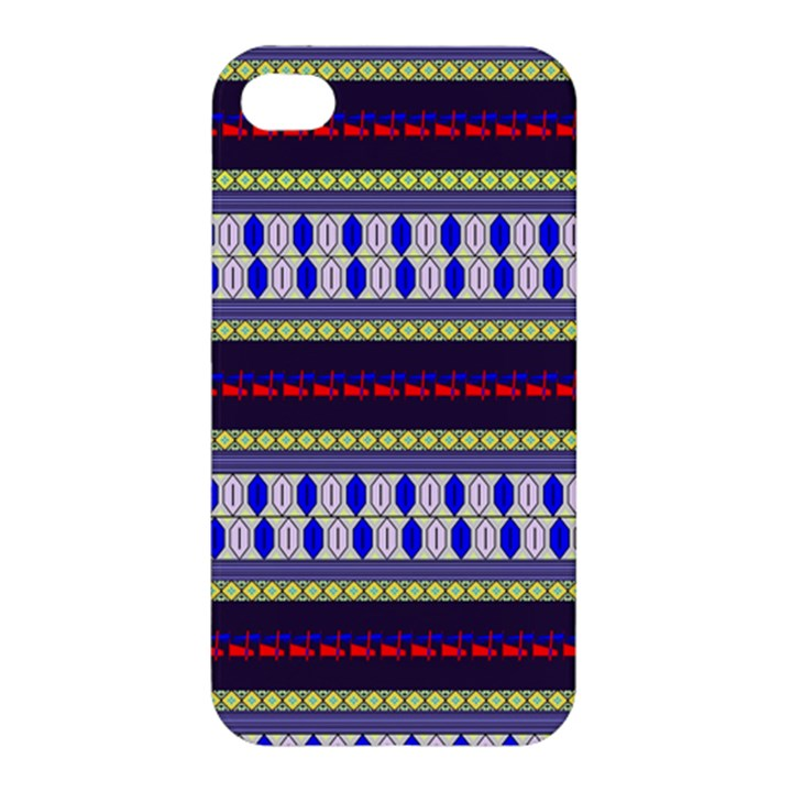 Colorful Retro Geometric Pattern Apple iPhone 4/4S Premium Hardshell Case
