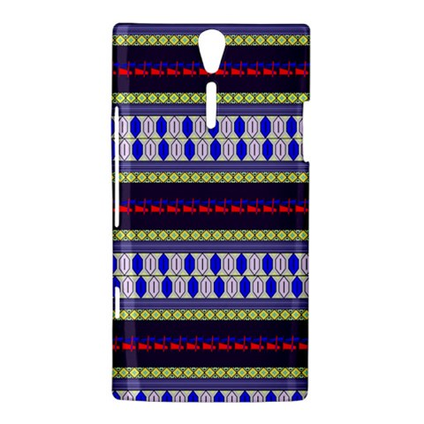 Colorful Retro Geometric Pattern Sony Xperia S