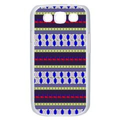 Colorful Retro Geometric Pattern Samsung Galaxy S III Case (White)