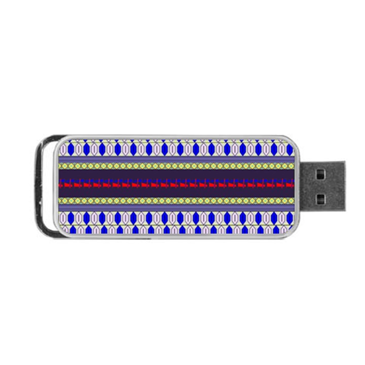 Colorful Retro Geometric Pattern Portable USB Flash (Two Sides)