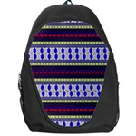Colorful Retro Geometric Pattern Backpack Bag Front