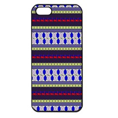 Colorful Retro Geometric Pattern Apple Iphone 5 Seamless Case (black)