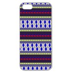 Colorful Retro Geometric Pattern Apple Seamless iPhone 5 Case (Clear) Front