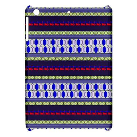Colorful Retro Geometric Pattern Apple iPad Mini Hardshell Case