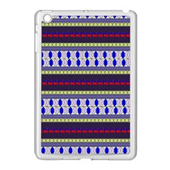 Colorful Retro Geometric Pattern Apple iPad Mini Case (White)