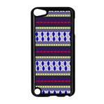 Colorful Retro Geometric Pattern Apple iPod Touch 5 Case (Black) Front