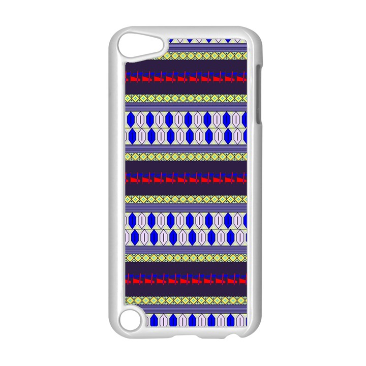 Colorful Retro Geometric Pattern Apple iPod Touch 5 Case (White)