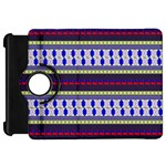 Colorful Retro Geometric Pattern Kindle Fire HD Flip 360 Case Front