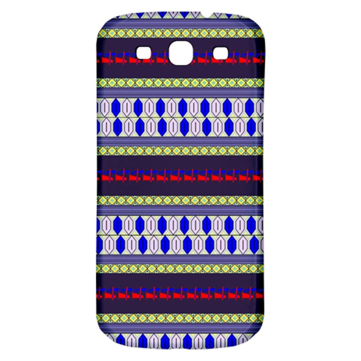 Colorful Retro Geometric Pattern Samsung Galaxy S3 S III Classic Hardshell Back Case