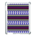 Colorful Retro Geometric Pattern Apple iPad 3/4 Case (White) Front