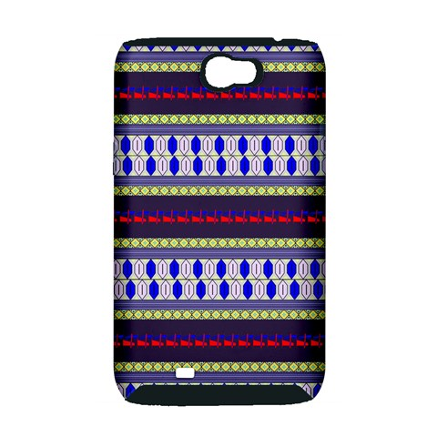 Colorful Retro Geometric Pattern Samsung Galaxy Note 2 Hardshell Case (PC+Silicone)