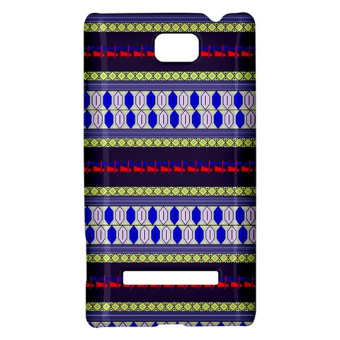 Colorful Retro Geometric Pattern HTC 8S Hardshell Case