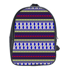 Colorful Retro Geometric Pattern School Bags (XL)