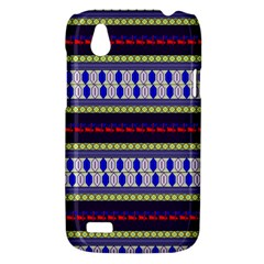 Colorful Retro Geometric Pattern HTC Desire V (T328W) Hardshell Case