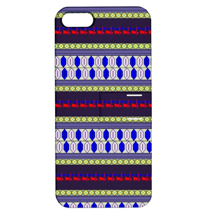 Colorful Retro Geometric Pattern Apple iPhone 5 Hardshell Case with Stand