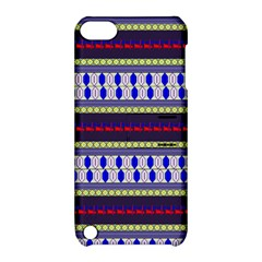 Colorful Retro Geometric Pattern Apple Ipod Touch 5 Hardshell Case With Stand