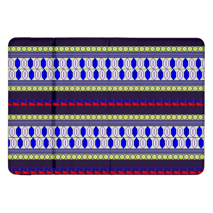 Colorful Retro Geometric Pattern Samsung Galaxy Tab 8.9  P7300 Flip Case