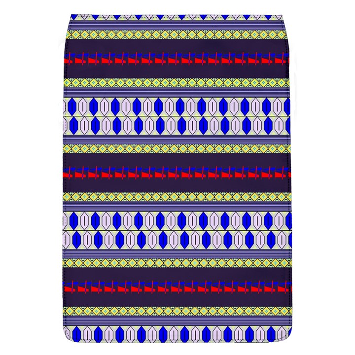 Colorful Retro Geometric Pattern Flap Covers (L)