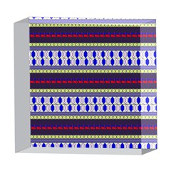 Colorful Retro Geometric Pattern 5  x 5  Acrylic Photo Blocks