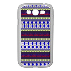 Colorful Retro Geometric Pattern Samsung Galaxy Grand DUOS I9082 Case (White)