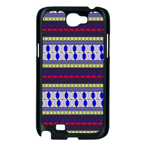 Colorful Retro Geometric Pattern Samsung Galaxy Note 2 Case (Black)