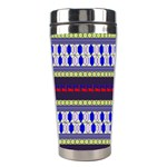 Colorful Retro Geometric Pattern Stainless Steel Travel Tumblers Right