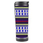 Colorful Retro Geometric Pattern Travel Tumbler Right