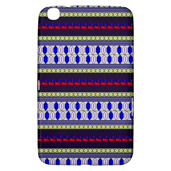 Colorful Retro Geometric Pattern Samsung Galaxy Tab 3 (8 ) T3100 Hardshell Case
