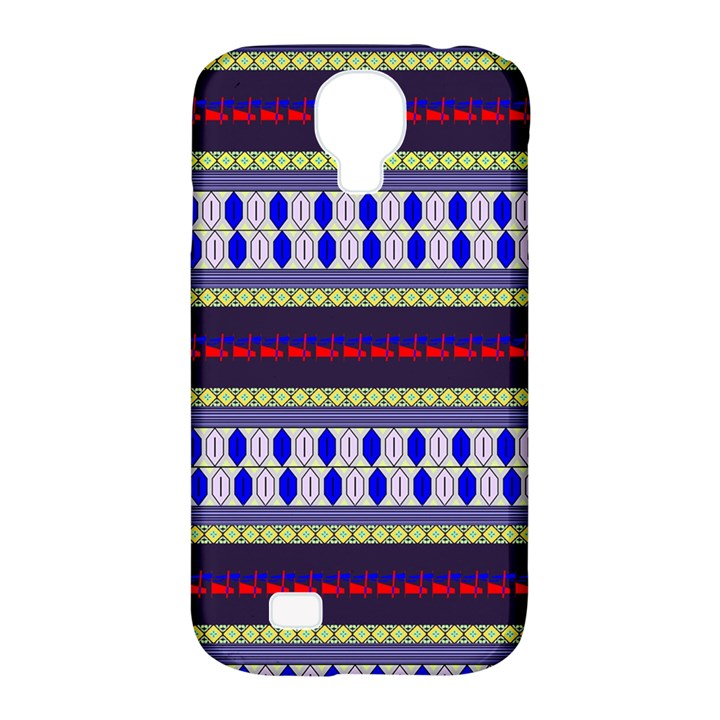 Colorful Retro Geometric Pattern Samsung Galaxy S4 Classic Hardshell Case (PC+Silicone)