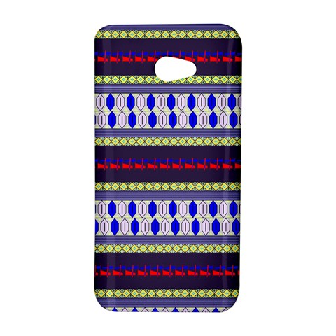 Colorful Retro Geometric Pattern HTC Butterfly S/HTC 9060 Hardshell Case
