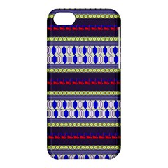 Colorful Retro Geometric Pattern Apple iPhone 5C Hardshell Case