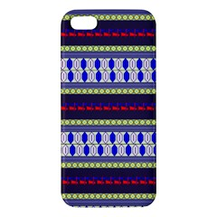 Colorful Retro Geometric Pattern Iphone 5s/ Se Premium Hardshell Case