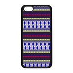 Colorful Retro Geometric Pattern Apple iPhone 5C Seamless Case (Black) Front
