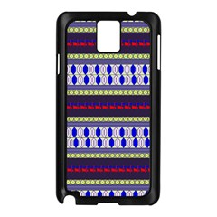 Colorful Retro Geometric Pattern Samsung Galaxy Note 3 N9005 Case (black)